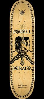 Powell Peralta SAS Chainz Skateboard Deck Natural - 8.75 x 32.95
