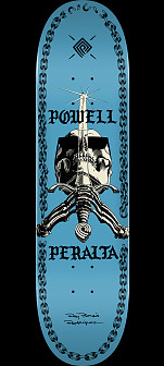 Powell Peralta SAS Chainz Skateboard Deck Blue - 8.5 x 32.08