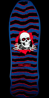 Powell Peralta Geegah Ripper Skateboard Deck Blue - 9.75 x 30