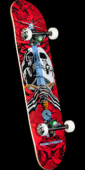 Powell Peralta Skull and Sword One Off Assembly - 7.5 x 31.375