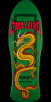Powell Peralta Steve Caballero Chinese Dragon Deck Green - 10 x 30