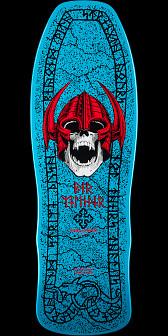Powell Peralta Per Welinder Nordic Skull Skateboard Deck Blue/Red - 9.715 x 29.75