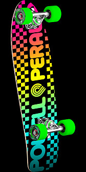 Powell Peralta Checker Cruiser 275 Skateboard Assembly - 8.62 x 27.88