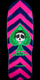 Powell Peralta Steadham Skull and Spade Skateboard Deck Pink/Navy - 10 x 30.125