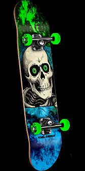 Powell Peralta Ripper Storm Complete Skateboard Green/Blue - 7 x 28