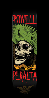 Powell Peralta Te Chingaste Skateboard Deck Green - Shape 248 - 8.25 x 31.95