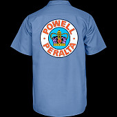 Powell Peralta Supreme Work Shirt - Blue