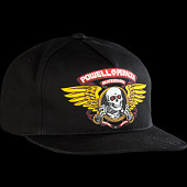 Powell Peralta Winged Ripper Snap Back Cap Black