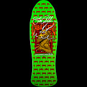 Powell Peralta Jay Smith GFL Benefit Autographed Skateboard Deck Green and Orange - 10 x 31