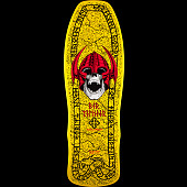 Powell Peralta Per Welinder Nordic Skull Skateboard Deck Yellow - 9.715 x 29.75