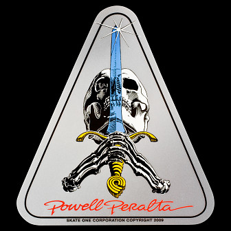 Powell Peralta Skull & Sword Sticker (Single)