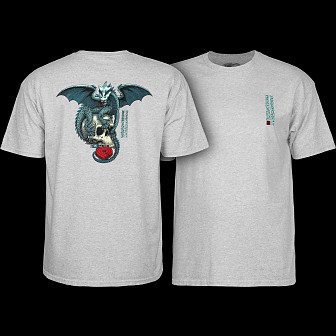 Powell Peralta T-shirt Dragon Skull Grey