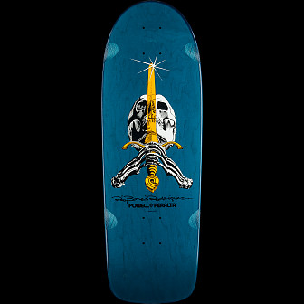 Powell Peralta Ray Rodriguez OG Skull and Sword Blue Deck -