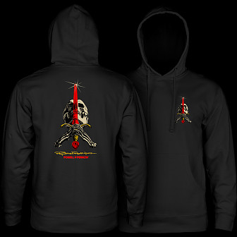 Powell Peralta Skull & Sword Hooded Sweatshirt Black