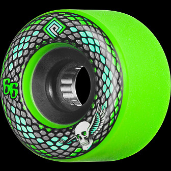 Powell Peralta Snakes 66mm Green 4pk