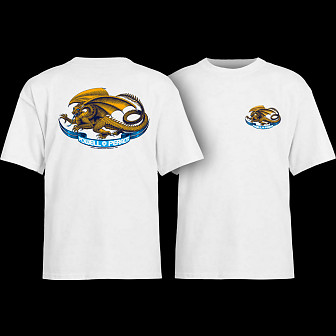 Powell Peralta Oval Dragon Youth T-shirt White