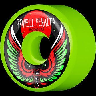 Powell Peralta Bomber Wheel 3 Green 64mm 85a 4pk