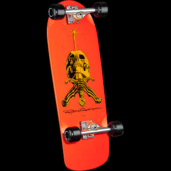 Powell Peralta Ray Rodriguez Skull and Sword Custom Complete Skateboard Orange - 10 x 28.25