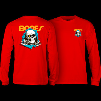 Powell Peralta Ripper L/S Shirt Red