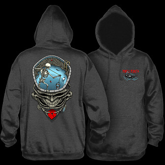 Powell Peralta Pro Mighty Pool Hooded Sweatshirt Charcoal