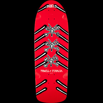 Powell Peralta OG Rat Bones Skateboard Deck Red - 10 x 31.75