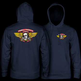 Powell Peralta Winged Ripper Hooded Sweatshirt Navy