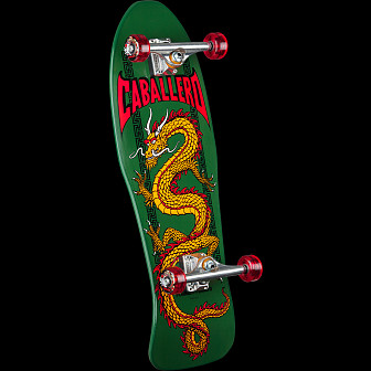 Powell Peralta Caballero Chinese Dragon Custom Complete Skateboard Green - 10 x 30