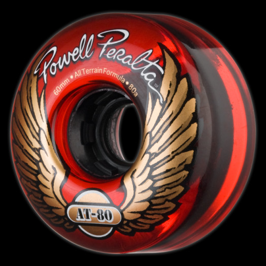 Powell Peralta AT-80 60mm 80a - Clear Red (4 pack)