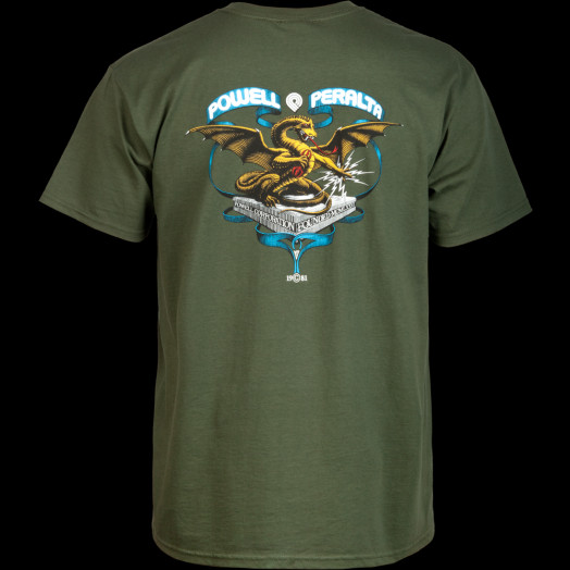 Powell Peralta Banner Dragon T-shirt - Green