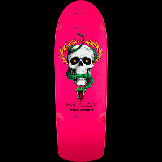Powell Peralta McGill OG Skull and Snake Deck Pink - 10 x 30.125