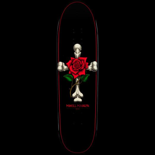 Powell Peralta Funshape Rose Cross Skateboard Deck - 8.6 x 31.84