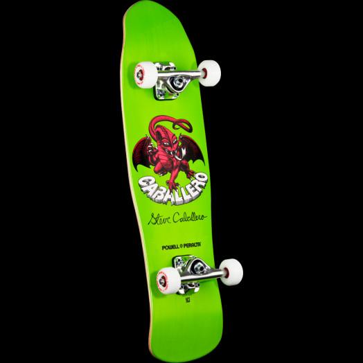 Powell Peralta Mini Caballero Dragon II 3 Complete Skateboard Green - 8 x 29.5