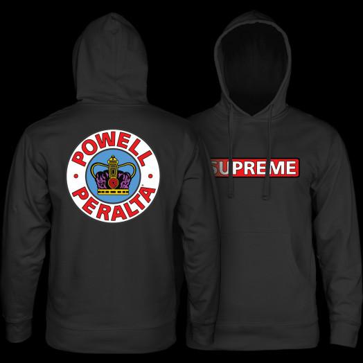 Powell Peralta Supreme Hooded Sweathsirt Black