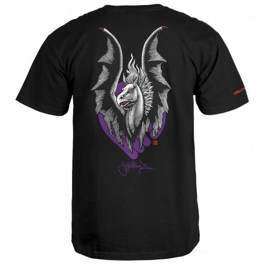 Powell Peralta  Jordan Hoffart Pegasus T-shirt - Black