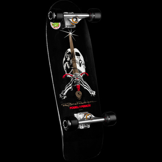 Powell Peralta Ray Rodriguez Skull and Sword Complete Skateboard Black - 10 x 30