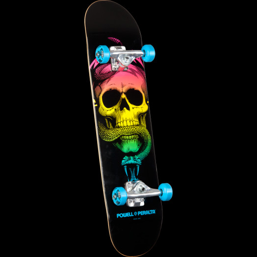 Powell Peralta Skull and Snake Complete Skateboard Blue - 7.625 x 31.625
