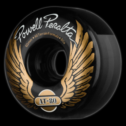 Powell Peralta AT-80 60mm 80a - Clear Black (4 pack)