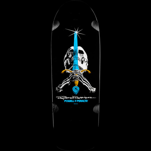 Powell Peralta Ray Rodriguez OG Skull and Sword Skateboard Deck - 10 x 30