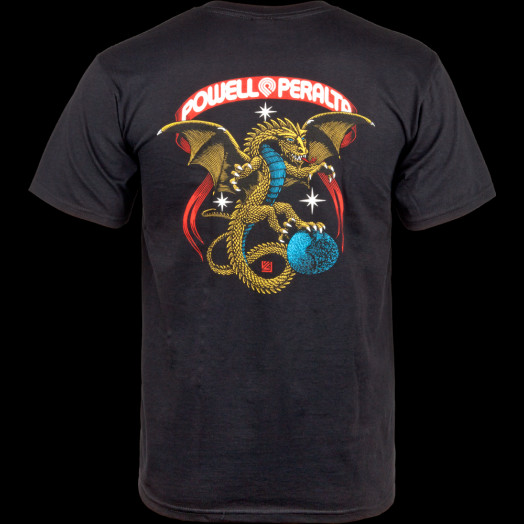 Powell Peralta Galactic Dragon T-shirt - Black
