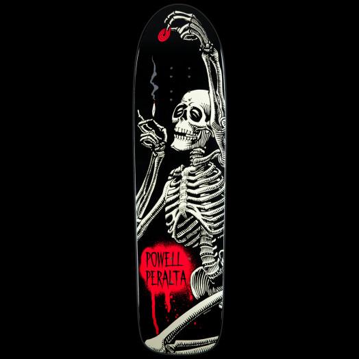 Powell Peralta Skateboard Deck Funshape Hippie Skeleton - 8.4 x 31.5