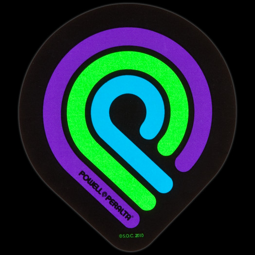 Powell Peralta Triple P Blacklight Sticker (Single)