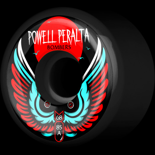 Powell Peralta Bomber Wheel 3 black 68mm 85a 4pk