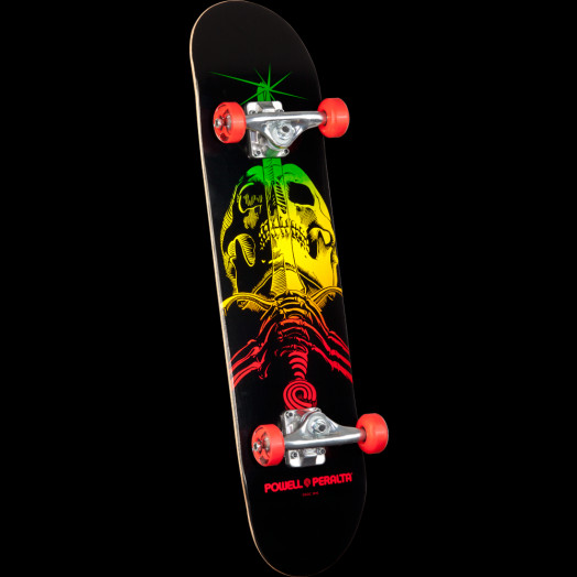 Powell Peralta Skull and Sword Complete Skateboard Red - 7.5 x 31.375