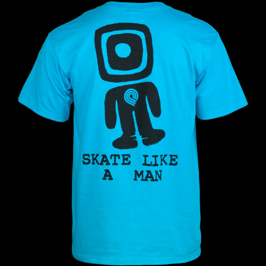 Powell Peralta Skate Like A Man T-shirt - Turquoise