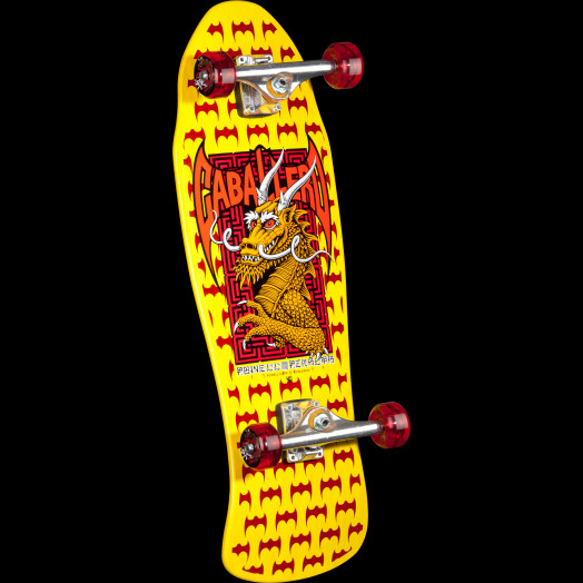 Powell Peralta Cab Dragon and Bats Complete Skateboard Yellow - 9.625 x 29.75