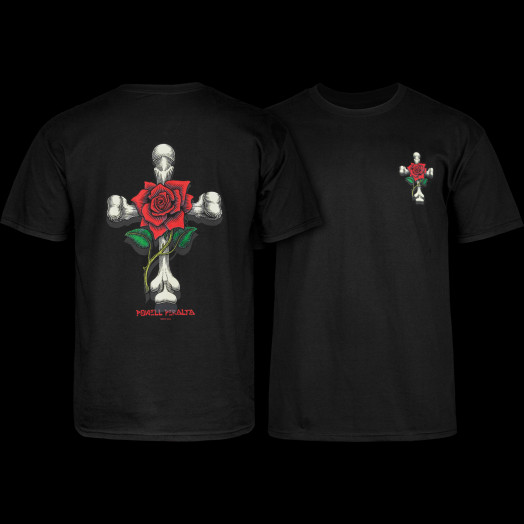 Powell Peralta T-shirt Rose Cross Black