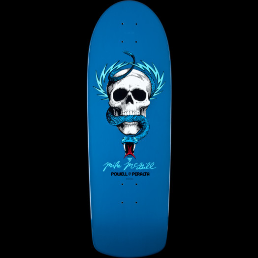 Powell Peralta Mike McGill Skull and Snake Skateboard Deck Blue  - 10 x 30.125