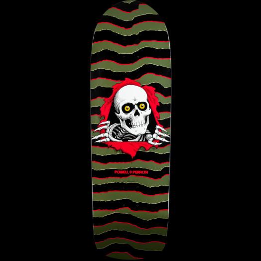 Powell Peralta Old School Ripper Olive Skateboard Deck - 10 x 31.75