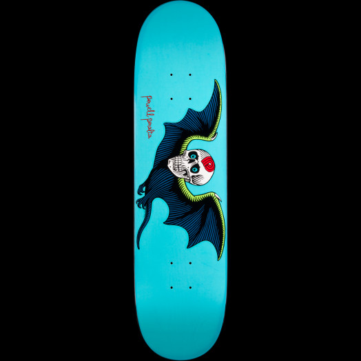 Powell Peralta Bat Skull Turquoise Skateboard Deck - 8.25 x 31.6