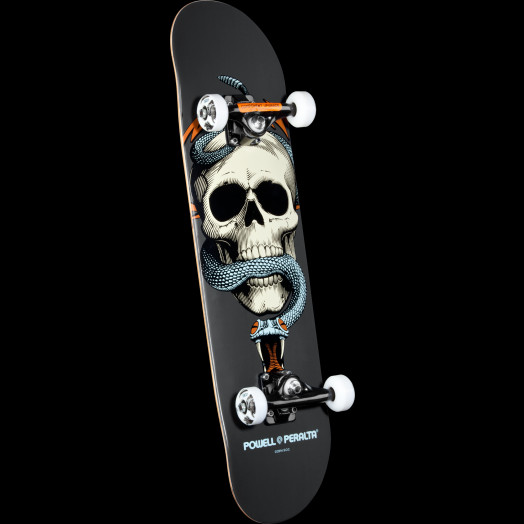 Powell Peralta Skull and Snake Complete Skateboard Gray - 7.625 x 31.625